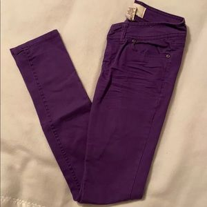 Women's skinny jeans - purple